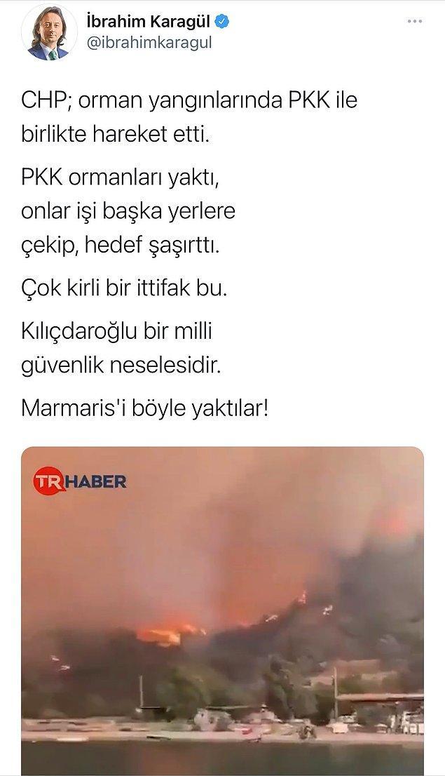 Attıktan bir süre sonra sildiği tweette ise açık bir şekilde Kılıçdaroğlu'nu suçladı.