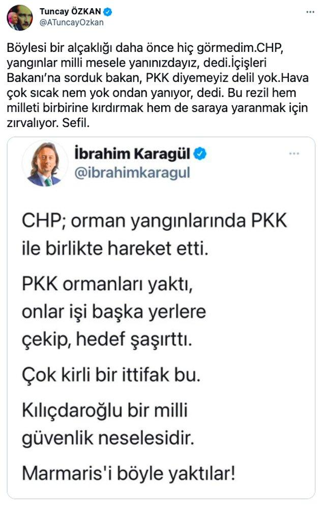 Tepkisini gösteren bir diğer isim ise CHP İzmir Milletvekili Tuncay Özkan oldu.