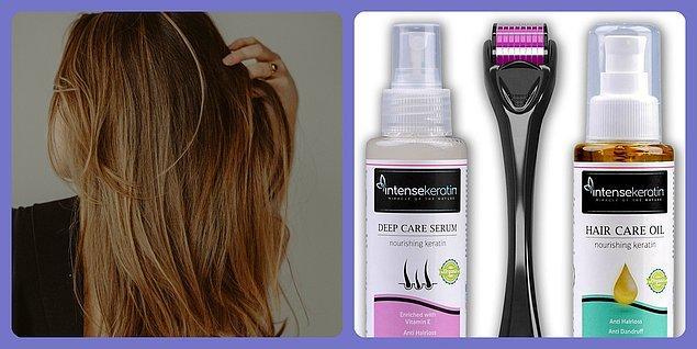 3. Saçlarınız dökülüyorsa bunun için de çeşitli saç bakım ürünleri var.