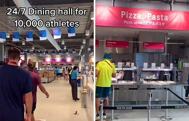 Yiyecek konusuna gelirsek sporculara pizza, makarna, vejetaryen veya yerel yiyecekler ve daha fazlası arasında seçim şansı veriliyor.