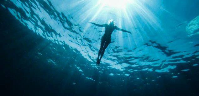 """14. """"İlk dalışlarımdan bir tanesi sırasında koşullar oldukça kötüydü. Güçlü bir akıntının yanında kum ve enkaz yüzünden görüş mesafemiz 30 santim kadardı."""""""