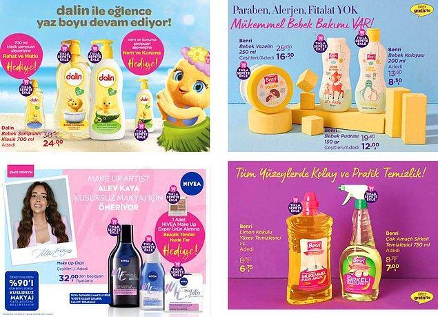 14. Dalin şampuanlarda güzel kampanyalar var. 700 ml 'klasik şampuan' alışverişine 'Rahat ve Mutlu' hediye.  'Nem ve Koruma' şampuan alışverişine 'Nem ve Koruma' hediye.