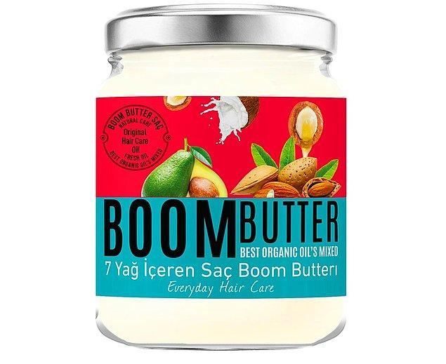 4. Tatil dönüşü saçlarınızı Boom Butter ile canlandırın.