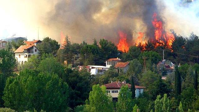 16:41 Uşak'ta 2 noktada orman yangını: 8 hektar alan yandı.