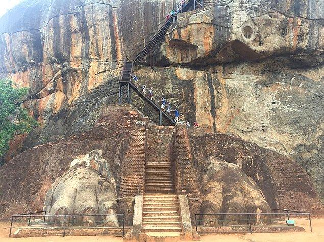 3. Sigiriya Lion's Rock Merdivenleri, Sri Lanka