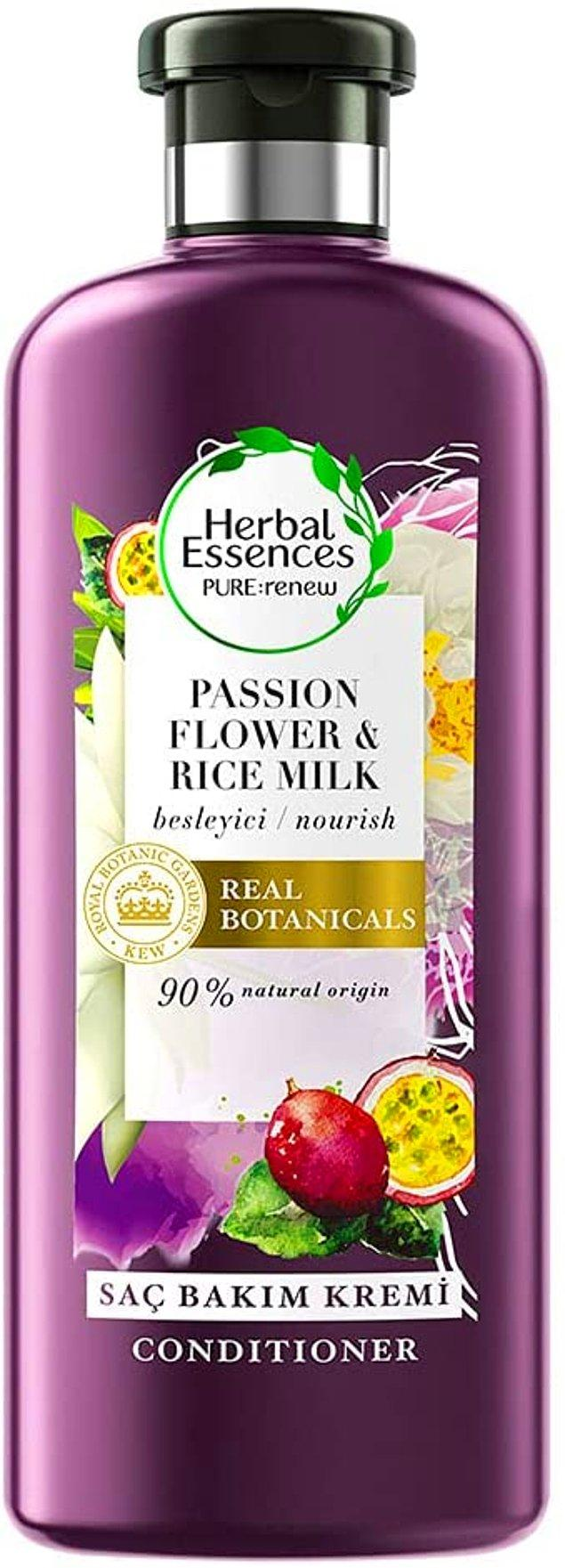 19. Herbal Essences saç kremi için piyasadaki en iyi saç kremi deniyor!😎