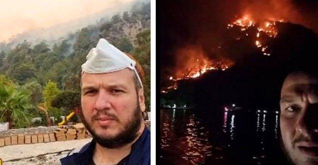 Ve gerçekten de 'yanacak' dediği komşusunun evi alev alev yandı...