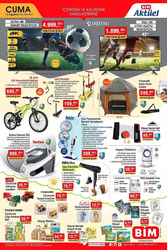 Dijitsu 65″ Ultra HD Smart Televizyon 4,999 TL.