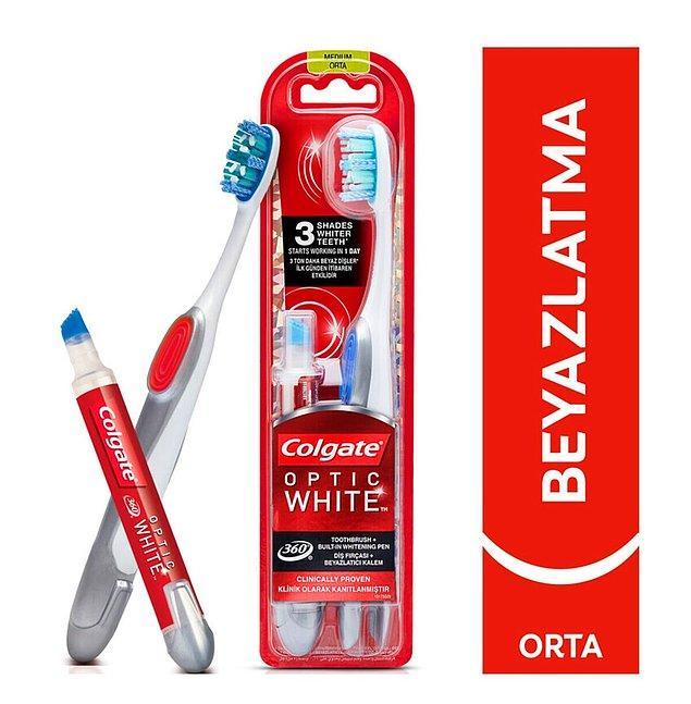 4. Her an bembeyaz dişlere sahip olmak için Colgate beyazlatıcı diş kalemi kullanmanız gerekiyor!