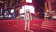 20 необычных фотографий персонажа-космонавта, позирующего в футуристических и антиутопических городах