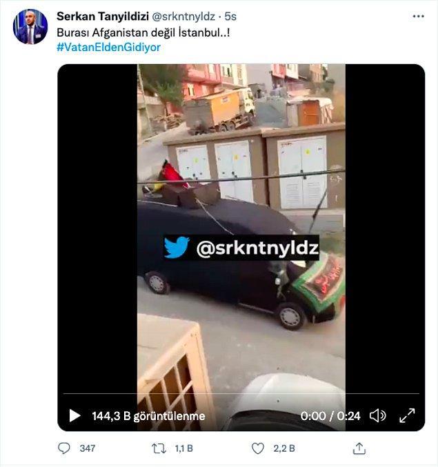 İstanbul'da Afgan bayraklarıyla dolaşan bir minibüsle ilgili paylaşılan görüntülerde hayli yayıldı.