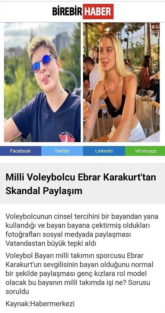 Ancak Ebrar sonrasında fotoğrafı kaldırdı. Bazı haber sitelerinin yaptığı çağ dışı haberler sonrasında ise kendisine destek yağdı.