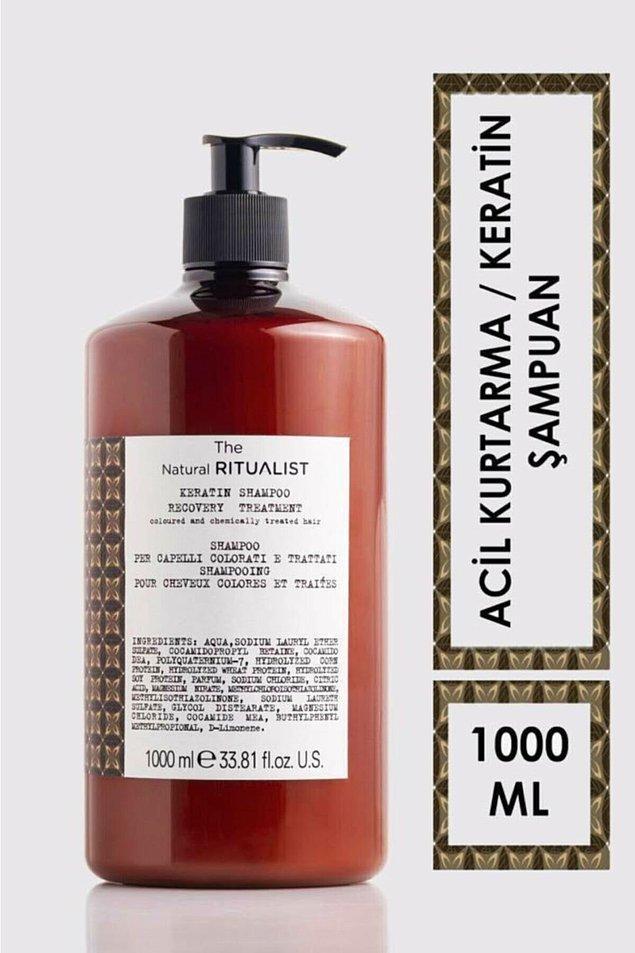 1. The Natural Ritualist Keratin işlem görmüş ve yıpranmış saçlar için acil kurtarma şampuanı
