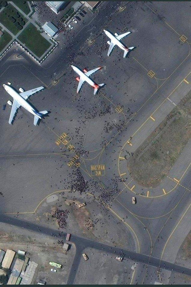 11. Kabil Havalimanı'nda yaşanan kaos...