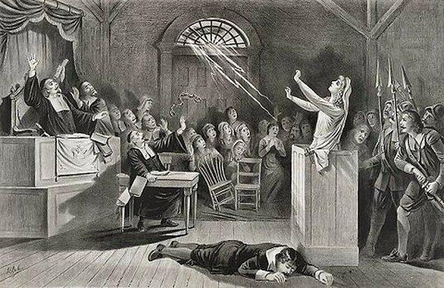 3. İki genç kızın açıklanamayan nöbetler geçirmesiyle cadı mahkemeleri kuruldu.