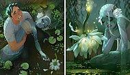 Украинский художник наконец-то закончил свою трогательную историю о русалке и человеке (Все части в одной)