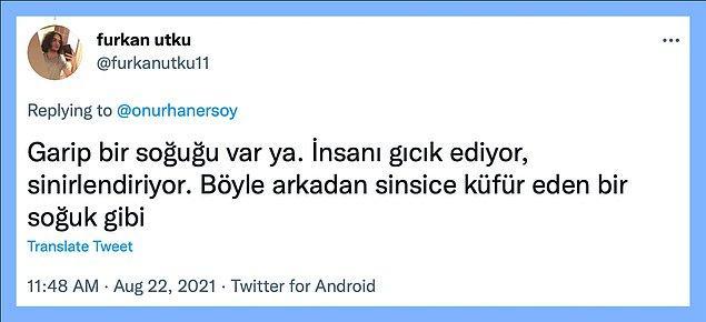 Ne kadar sinirlendirse de başka şehirde soğuğu hissettiğinde 'Ankara' diye aklından geçirmeden de edemezsin.