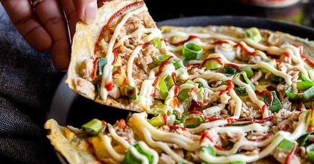 10. Son olarak pizzanın üzerine ne dökersin?