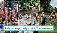 Amsterdam'da Küresel Isınmaya Dikkat Çekmek İçin Yapılan Çıplak Bisiklet Yarışı Tüm Dünyada İlgi Görüyor!