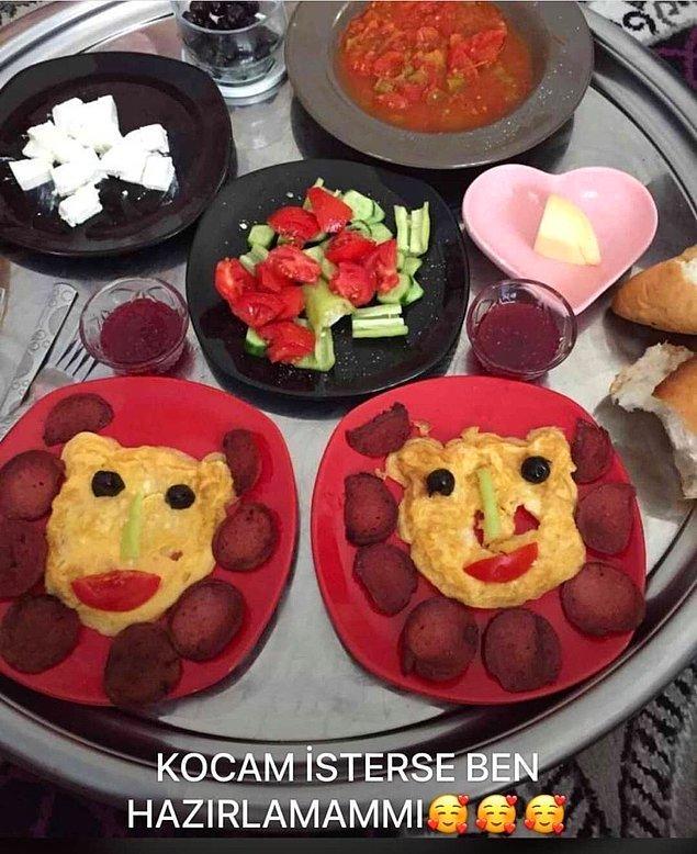 3. Kreşteki ilk aşkımla kahvaltı yaparken ben!