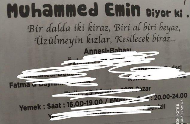 10. Üzülme Muhammed Emin, senin şeyine o kadar meraklı değiliz!
