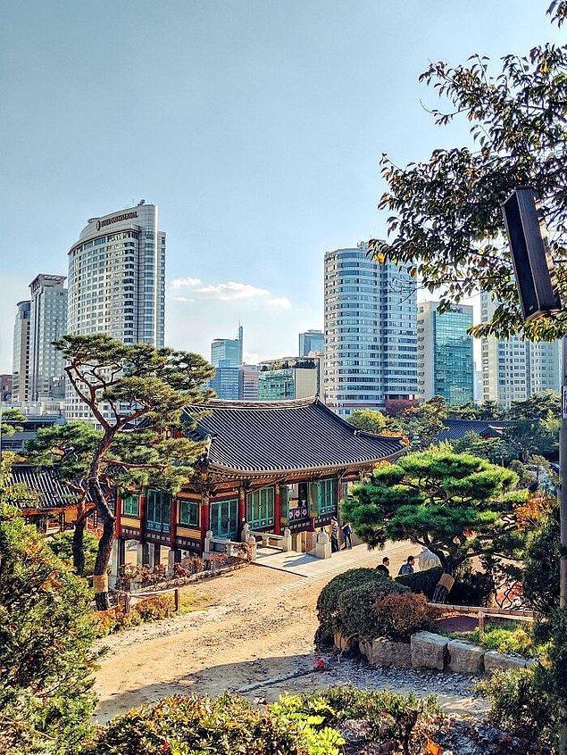 15. Modern Güney Kore ve tarihi Güney Kore tek bir karede. - Seoul