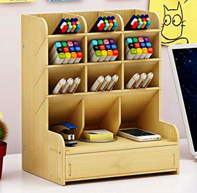 8. Çok amaçlı bir çalışma masası organizeri...