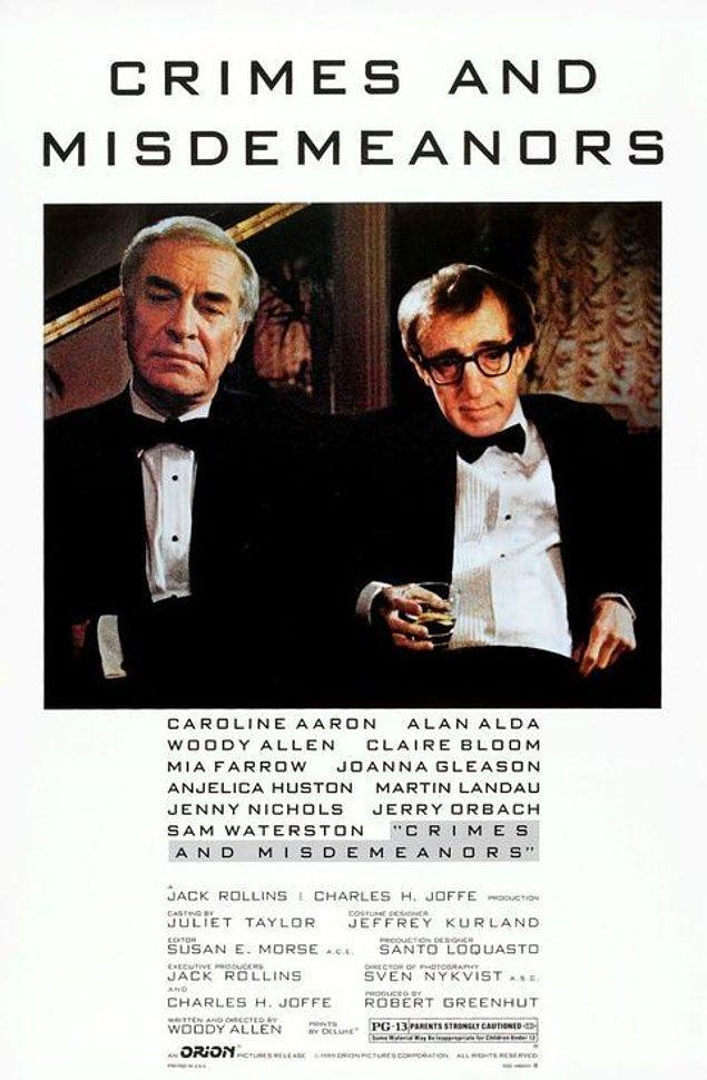 5. Crimes and Misdemeanors / Suçlar ve Kabahatler (1989) - IMDb: 7.9
