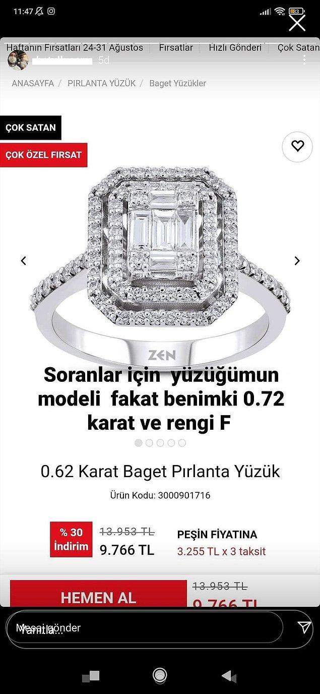 1. Eskiden böyle detaylar vermezlerdi, sadece yüzüğü gösterirlerdi.