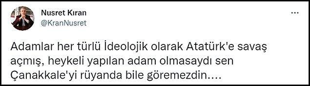 Bakan'ın bu sözleriyle Atatürk heykellerini kastettiğini düşünenler oldu. 👇