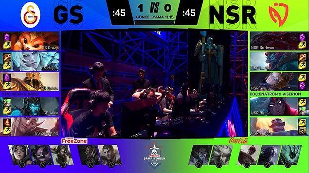İkinci maçta NASR tarafı çok daha güvenilir bir kompozisyon yaratsa da Analiz Masası GS kompozisyonunu çok daha dengeli buldu.