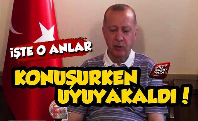 Cumhurbaşkanı Erdoğan giderek yaşlanıyor.  Bunu  yavaş yürümesinden, canlı yayında uyumasından biliyoruz.