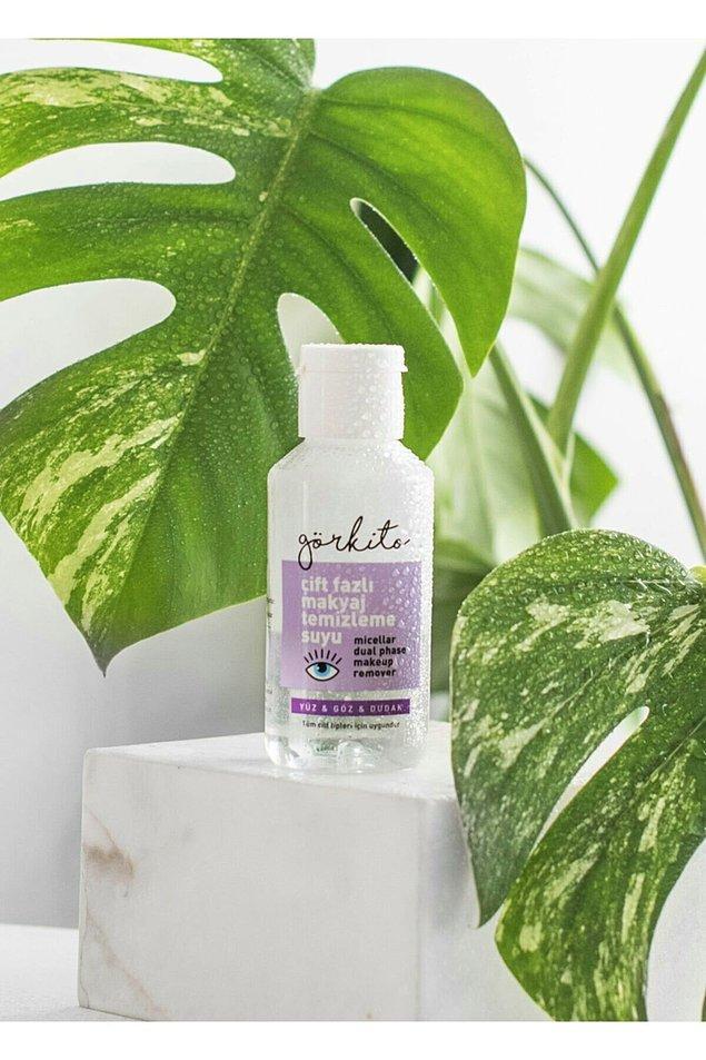 12. Görkem Karman'ın markası Görkito'nun yeni ürünü çift fazlı makyaj temizleme suyu da, diğer ürünleri gibi çok sevildi.