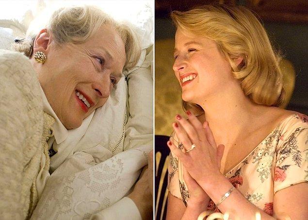 3. Ünlü oyuncu Meryl Streep, kızı Mamie Gummer ile 2007 yılında çekilen 'Evening' filminde yer aldı. Annesinin canlandırdığı karakterin gençliğini oynayan Mamie'nin güzelliğini nereden aldığı belli. 😍