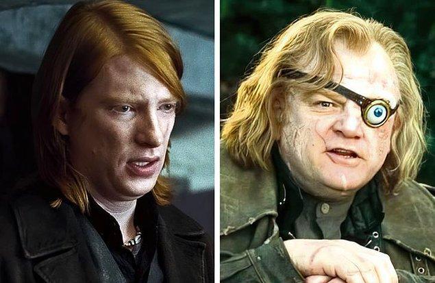 14. Hepimizin severek izlediği 'Harry Potter' serisinde Alastor karakterine Brendan Gleeson, Ron Weasley'nin abisi Bill Weasley karakterine ise oğlu Domhall hayat verdi.