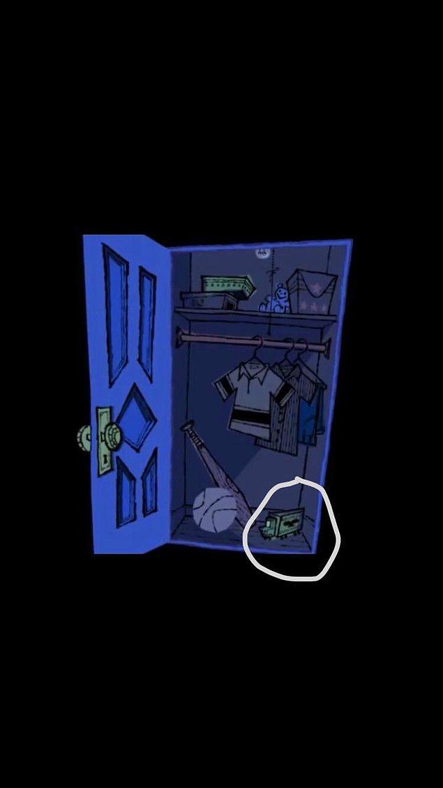 20. Sevimli Canavarlar filminin girişinde yine gizlenmiş bir Mickey Mouse silüeti var.