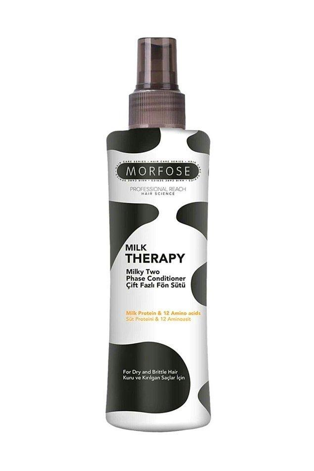 6. Saçlarını tarayıp kurutmadan önce Morfose Milk Therapy çift fazlı fön sütü kullanman saçlarının daha az yıpranmalarına yardımcı olacaktır.
