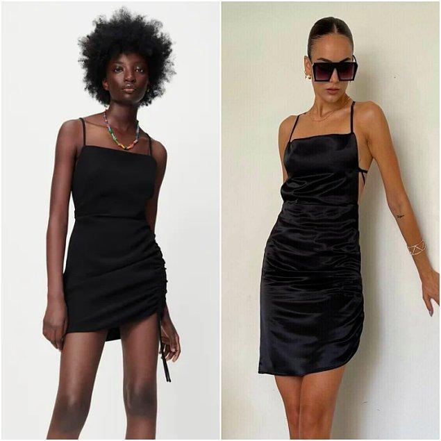 7. Zara'da drapeli mini elbise 300 TL iken, ButikGoGirl'de 132 TL.👌