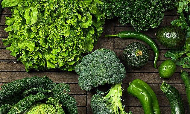 Yeşil sebze tüketiminizi artırın.