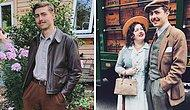 Помолвленная молодая пара живет как в 1930-е: винтажная одежда, дом, инструменты и машина (20 фото)