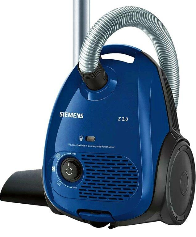 8. En klasik temizlik yöntemlerinden Siemens süpürge...
