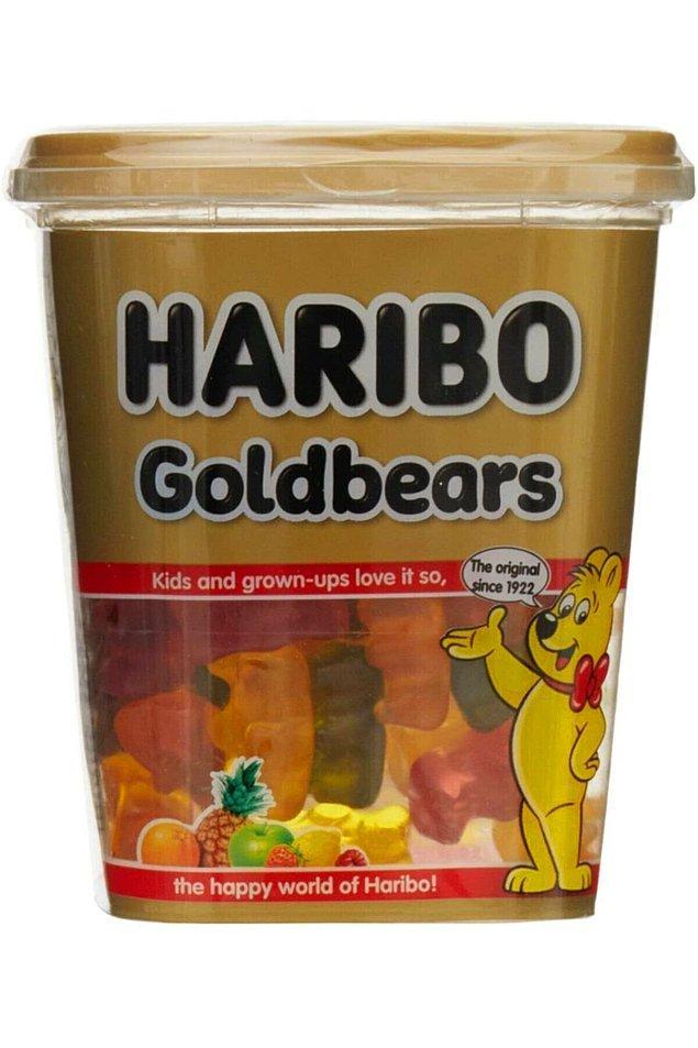 14. Haribo altın ayıcık özel seri yumuşak şeker...
