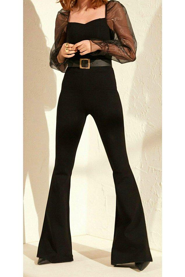 6. Bacak boyunuzu uzun gösterecek en şık tüyo: İspanyol paçalar!😍
