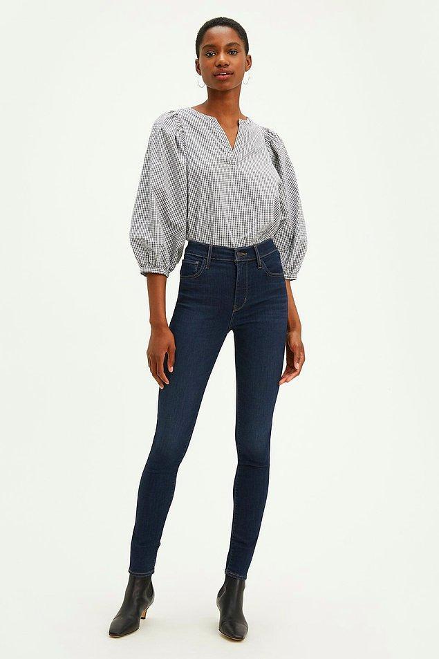 13. Dar jean pantolonlar ile bacak boyunuz uzun görünsün!