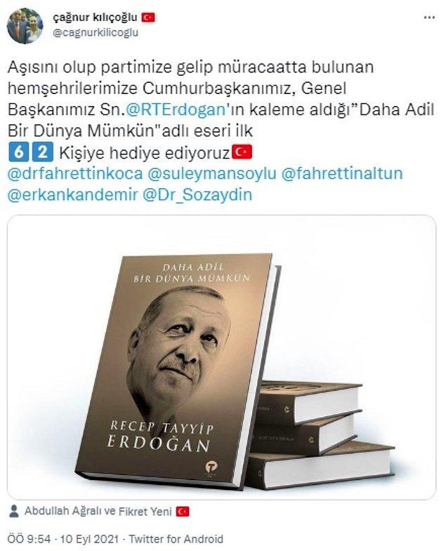 İşte İlçe Başkanı Kılıçoğlu'nun paylaşımı: