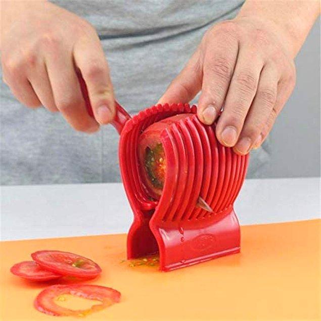 1. Meyve ve sebze dilimlemeyi kolaylaştıran alet...