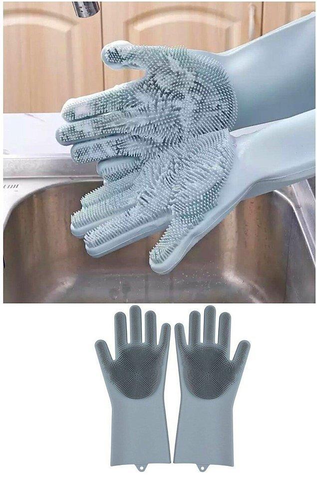 18. Sihirli bulaşık eldiveni, daha önce neden karşıma çıkmadın diye kendi kendinize hayıflanacağınız bir ürün...