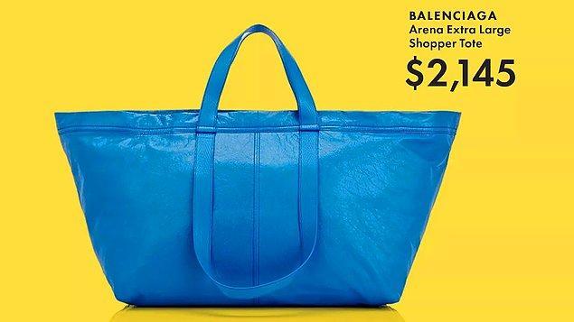 Geçtiğimiz yıl satışa sunduğu bu çanta hem rengi hem tasarımı hem de fiyatıyla ortalığı karıştırmıştı.