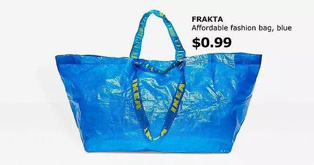 Çünkü Ikea'nın alışveriş çantasıyla neredeyse tıpatıp aynıydılar!