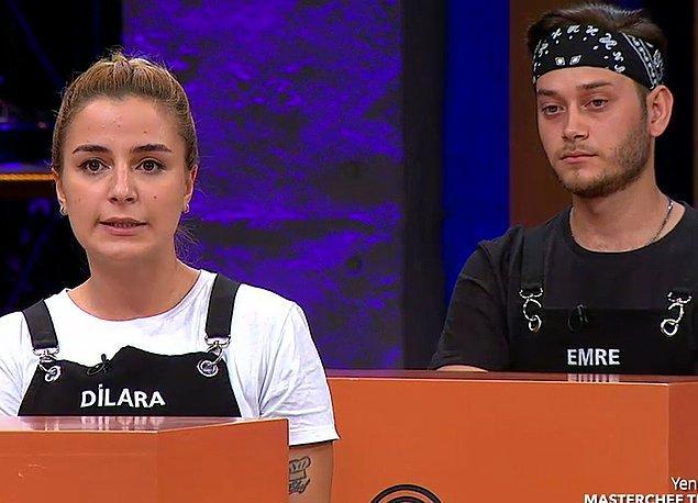 1. MasterChef'in son bölümünde Emre ile Dilara'nın birbirine girmesi gündem oldu.